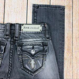 Rock Revival Gray Celine Straight Jeans